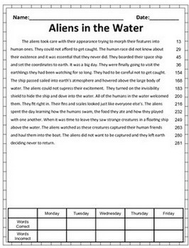 image about Printable Running Record Passages named Looking at Fluency Pattern Webpages - FREEBIE