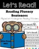 Reading Fluency Sentences Aligned with Kindergarten Readin