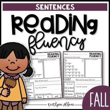Reading Fluency Sentences - Fall