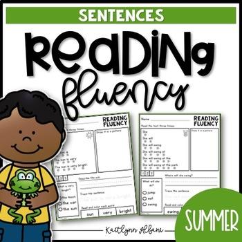 Reading Fluency Sentences - Summer