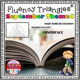 Reading Fluency Activity - September Themed Fluency Triangles® Back to School