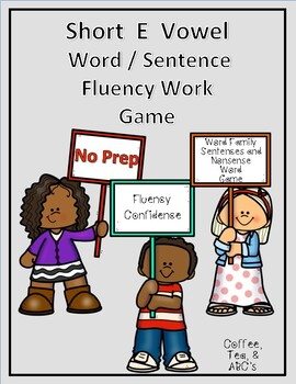 Reading Fluency Short E Word Families and Sentences