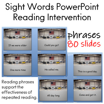 Reading Fluency Practice for Sight Words