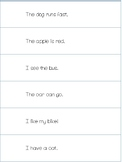 Reading Fluency Strips