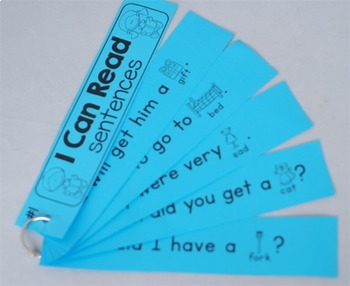 Reading Fluency Strips First Grade {Set 3} Picture Supported Sentences