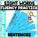 Reading Fluency Sentence Strips First Grade Picture Supported