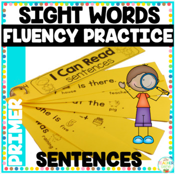 Reading Fluency Strips {Kindergarten Set 2} Picture Supported Sentences
