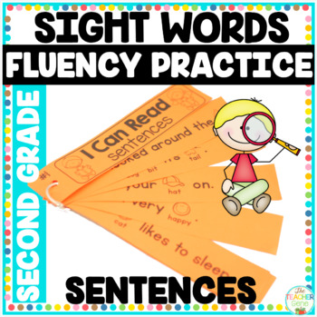 Reading Fluency Strips Second Grade List  {Set 4} Picture Supported Sentences