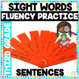 Reading Fluency Strips Third Grade List  {Set 5} Picture Supported Sentences