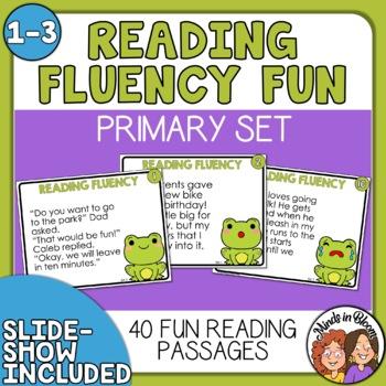 Reading Fluency Task Cards (Primary)