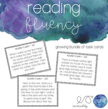 Reading Fluency Task Cards for Upper Elementary