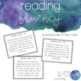 Reading Fluency Task Cards for Upper Elementary