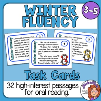 Reading Fluency Task Cards - for Winter