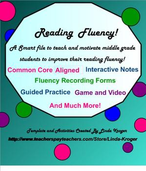 Reading Fluency Unit!  Notes, Game, Video, ORFA forms and more!