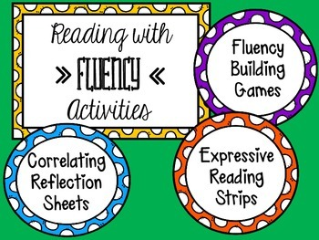 Reading Fluency Unit with Activities & Games