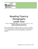 Reading Fluency & Verbal Expression Paragraphs for Aphasia