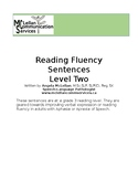 Reading Fluency & Verbal Expression Sentences for Aphasia
