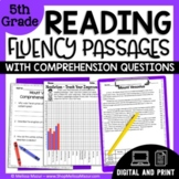 Reading Fluency Passages & Comprehension Questions 5th Grade | Distance Learning