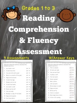 Reading Fluency and Comprehension Assessment