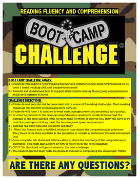 Reading Fluency and Comprehension Bootcamp
