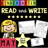 Spring Reading Passages with Comprehension Questions for Kindergarten - MAY