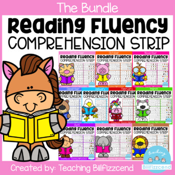 Reading Fluency and Comprehension Sentence Strip (Growing Bundle)