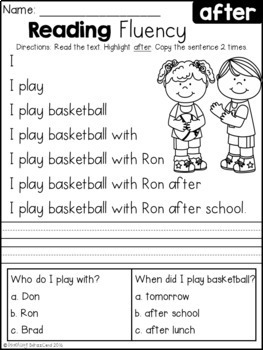 Reading Fluency and Comprehension (THE BUNDLE)
