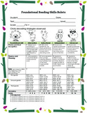 Reading Fluency and Retelling Rubric {Reading Assessment}