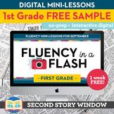 Reading Fluency in a Flash 1st Grade FREE SAMPLE • Digital