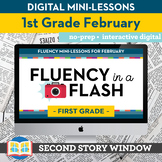 Reading Fluency in a Flash 1st Grade February • Digital Fl