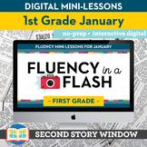 Reading Fluency in a Flash 1st Grade January • Digital Fluency Mini Lessons