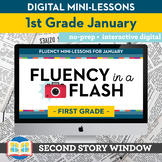 Reading Fluency in a Flash 1st Grade January • Digital Fluency Mini Lessons
