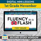 Reading Fluency in a Flash 1st Grade November • Digital Fl