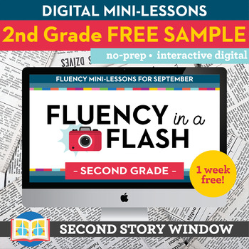 Reading Fluency in a Flash 2nd Grade FREE SAMPLE • Digital Fluency Mini Lessons