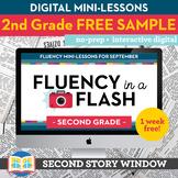 Reading Fluency in a Flash 2nd Grade FREE SAMPLE • Digital