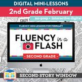 Reading Fluency in a Flash 2nd Grade February • Digital Fl