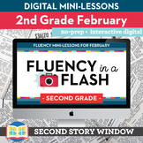 Reading Fluency in a Flash 2nd Grade February • Digital Fl
