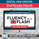 Reading Fluency in a Flash 2nd Grade March • Digital Fluency Mini Lessons