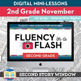 Reading Fluency in a Flash 2nd Grade November • Digital Fluency Mini Lessons