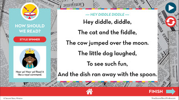 Reading Fluency in a Flash 2nd Grade October • Digital Fluency Mini Lessons