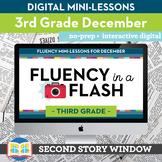 Reading Fluency in a Flash 3rd Grade December • Digital Fl