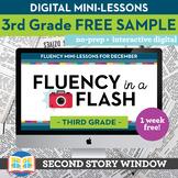 Reading Fluency in a Flash 3rd Grade FREE SAMPLE • Digital