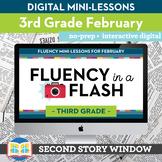 Reading Fluency in a Flash 3rd Grade February • Digital Fl