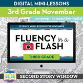 Reading Fluency in a Flash 3rd Grade November • Digital Fl