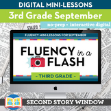 Reading Fluency in a Flash 3rd Grade September • Digital F