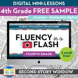 Reading Fluency in a Flash 4th Grade FREE SAMPLE • Digital