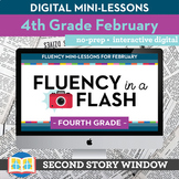 Reading Fluency in a Flash 4th Grade February • Digital Fl