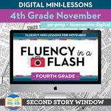 Reading Fluency in a Flash 4th Grade November • Digital Fl
