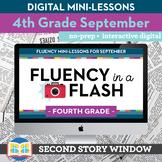 Reading Fluency in a Flash 4th Grade September Digital Flu