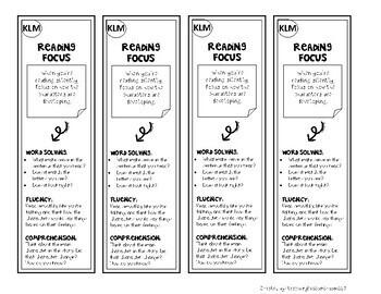 Reading Focus Bookmarks